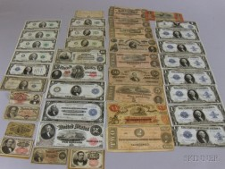 Thirty-eight Pieces of U.S. 19th and 20th Century Currency