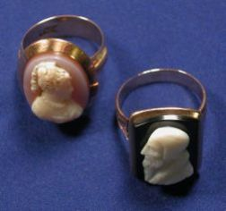 Two Hardstone Cameo Rings
