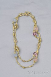 18kt Gold, Gemstone, and Diamond Necklace, Judith Ripka