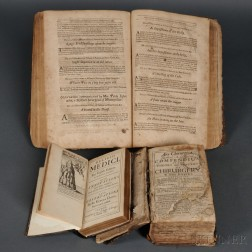 Medical Books, English, Three Volumes, 1672-1698.