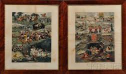 After Alfred Charles Havell (British, 1855-1928)      Two Framed Prints: A Racing Nightmare