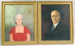 Four Framed Oil on Canvas Portraits of Wetherill Family Members