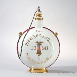 Large Grand Army of the Republic Ceramic Presentation Decanter
