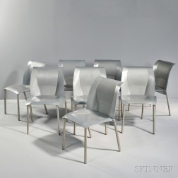 Eight Frank Gehry Fog Chairs