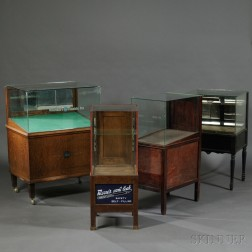 Four Glass Store Fountain Pen Display Cases