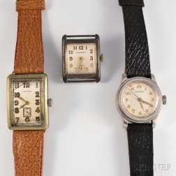 Three Longines Manual-wind Wristwatches