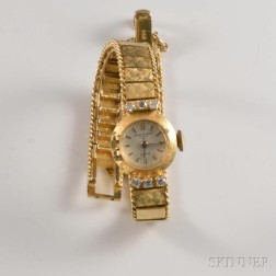 Baume Mercier 14kt Gold and Diamond Lady's Wristwatch