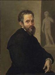 Continental School, 19th Century    Portrait, Probably of Michelangelo Buonarroti, Before David.