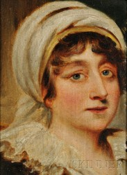 Manner of Thomas Lawrence (British, 1769-1830)      Portrait Head of a Woman, Possibly the Countess of Carmarthen