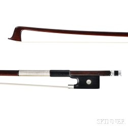 French Silver-mounted Violin Bow, Joseph Alfred Lamy