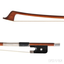 Silver-mounted Cello Bow, Possibly Morizot Workshop