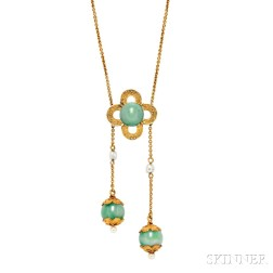 14kt Gold and Jade Negligee