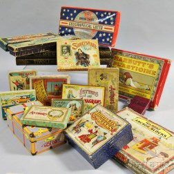 Large Group of Late 19th Century Board Games