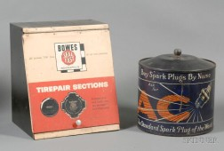 Bowes Seal-fast Tire Repair Sections and A/C Spark Plug Display.