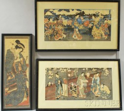 Two Woodblock Triptychs and a Diptych