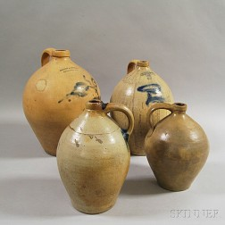 Four Early Stoneware Jugs