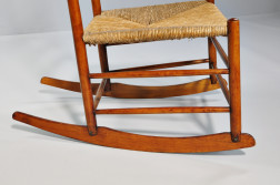 Shaker No. 4 Production Maple Rocking Chair with Shawl Bar