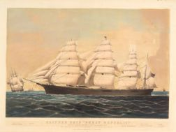 "Nathaniel Currier, publisher (American, 1813-1888)    Clipper Ship ""Great Republic.,"""