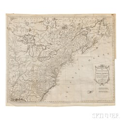 United States of America. Thomas Kitchin (1718-1784) Map of the United States in North America; with the British, French, and Spanish D