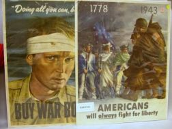 Three World War II Chromolithograph Posters