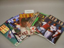 Ten 1980s, Eight 1990s, and 2002 and 2003 Boston Red Sox Yearbooks