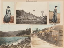 Japan, Hong Kong, Singapore, Photo Album, 1907-08.