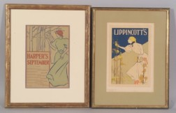 Lot of Two Magazine Posters:   Edward Penfield (American, 1866-1925) HARPER'S SEPTEMBER