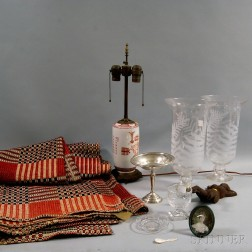 Group of Glassware and Decorative Items