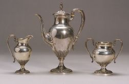 Rogers, Lunt & Bowlen Classical Revival Three Piece Coffee Set