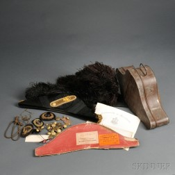 Civil War Officer's Chapeaus, Hat Badges, and Buttons