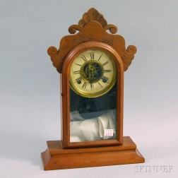 E. Ingraham & Co. Walnut Shelf Clock