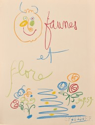 After Pablo Picasso (Spanish, 1881-1973)      Faunes et Flore D'Antibes  /Portfolio of Twelve Lithographs