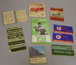 Eight 1940s-1960s Promotional Boston Red Sox Schedules