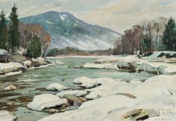 Aldro Thompson Hibbard (American, 1886-1972)      West River at Jamaica, Vermont