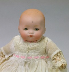 Armand Marseille Flange Neck Bisque Character Baby