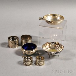 Seven Silver Table Items
