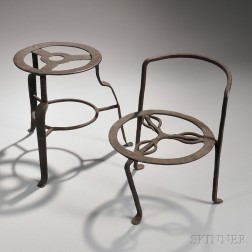Two Wrought Iron Cooking Trivets