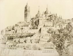John Taylor Arms (American, 1887-1953)  Lot of Five Etchings and Sketches From the Spanish Church Series: