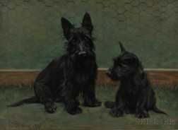 Anglo/American School, 20th Century      Pair of Scotties