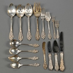Reed & Barton Florentine Lace   Pattern Sterling Silver Flatware Service