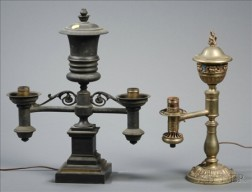 Two Pairs of Two Light Argand Lamps