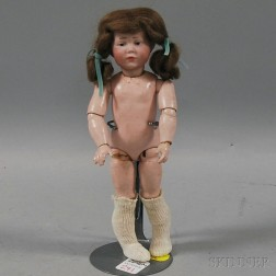 Small K*R 101 Bisque Head Doll