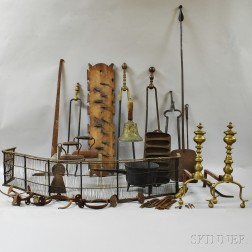 Group of Mostly Metal Decorative Items