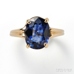 14kt Gold and Sapphire Ring, Tiffany & Co.