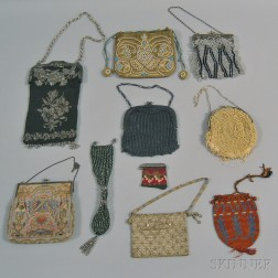 Ten Assorted Evening Purses, Bags, and Pouches