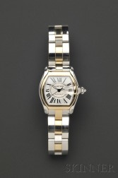 """Stainless Steel and 18kt Gold """"Roadster"""" Wristwatch, Cartier"""