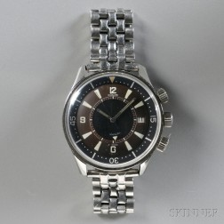 LeCoultre Polaris Stainless Steel Wristwatch with Alarm