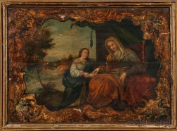 Continental School, 19th Century      Mary and a Youthful Jesus Reading Scripture