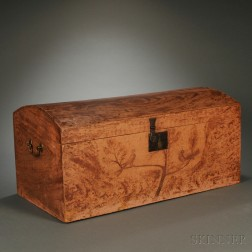 Grained and Paint-decorated Dome-top Box