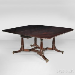 "Carved Mahogany ""Cumberland"" Dining Table"